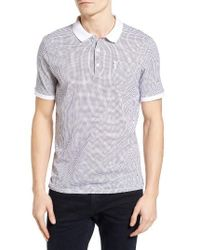 Ben Sherman | White Geo Print Jersey Polo for Men | Lyst