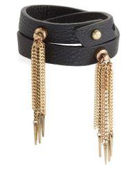 Jenny Bird   Black Luna Warrior Leather Wrap Bracelet   Lyst