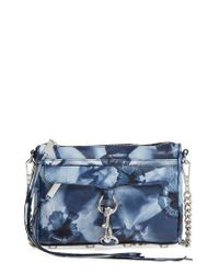Rebecca Minkoff   Blue Mini Mac Leather Crossbody Bag   Lyst
