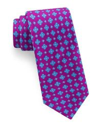 Ted Baker | Purple Lansbury Floral Silk Tie for Men | Lyst