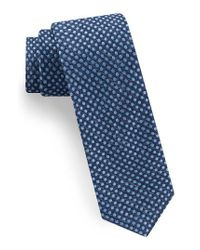 Ted Baker | Blue Tussah Party Dot Silk Tie for Men | Lyst