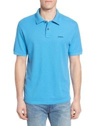 Patagonia   Blue Belwe Relaxed Fit Pique Polo for Men   Lyst