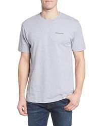 Patagonia | Gray M's Line Regular Fit Logo T-shirt for Men | Lyst