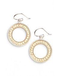 Anna Beck | Metallic Open Circle Drop Earrings | Lyst