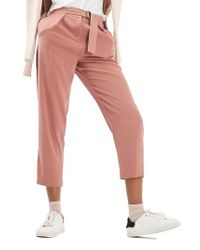 TOPSHOP | Pink Utility Belt Peg Trousers | Lyst