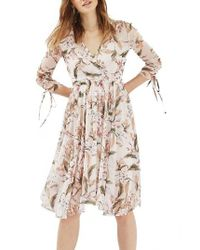 TOPSHOP | White Lily Floral Mesh Dress | Lyst
