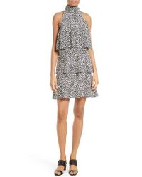Tracy Reese - Multicolor Print Tiered Halter Dress - Lyst
