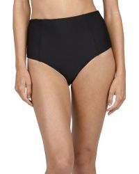 Volcom | Black Simply Solid Retro Bikini Bottoms | Lyst