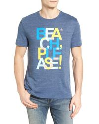 Original Penguin | Blue Beach Please Graphic T-shirt for Men | Lyst