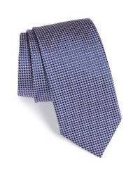 Eton of Sweden | Blue Circle Geometric Silk Tie for Men | Lyst