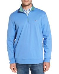 Vineyard Vines | Blue Quarter Zip Pullover for Men | Lyst