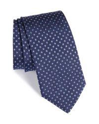 Eton of Sweden | Gray Floral Silk Tie for Men | Lyst