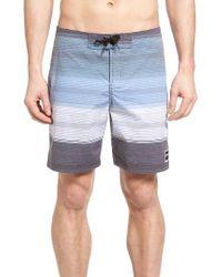 Ezekiel | Black Stripe Board Shorts for Men | Lyst