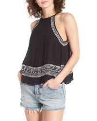 Rip Curl | Black Far Out Embroidered Top | Lyst