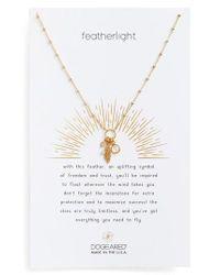 Dogeared - Metallic Featherlight Pendant Necklace - Lyst