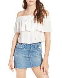 Lovers + Friends | White Angie Off The Shoulder Top | Lyst