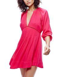 Free People | Pink Go Lightly Swing Dress | Lyst
