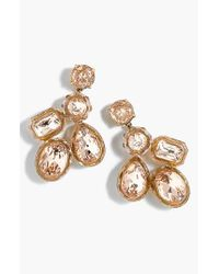 J.Crew - Metallic Jewel Box Cluster Earrings - Lyst