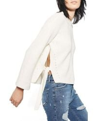 TOPSHOP | White Tie Side Sweater | Lyst