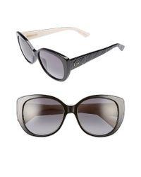 Dior | Black Lady 55mm Sunglasses | Lyst