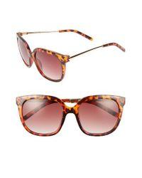A.J. Morgan   Brown Dowager 52mm Sunglasses   Lyst