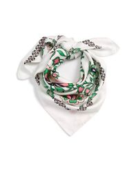Tory Burch | White Garden Party Square Silk Scarf | Lyst