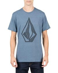 Volcom | Blue Creep Stone Graphic T-shirt for Men | Lyst