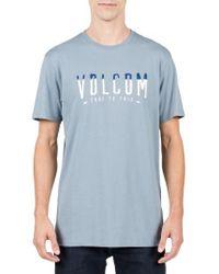 Volcom   Blue T-mark Logo T-shirt for Men   Lyst
