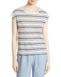 Joie | Blue Kinsley Linen Stripe Tee | Lyst
