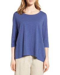 Eileen Fisher - Blue Organic Cotton Top - Lyst