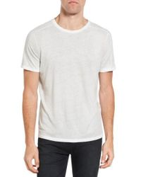 John Varvatos - Gray Reverse Sprayed T-shirt for Men - Lyst