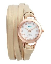 La Mer Collections | Multicolor Saturn Wrap Leather Strap Watch | Lyst