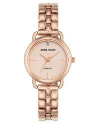 Anne Klein | Metallic Diamond Bracelet Watch | Lyst