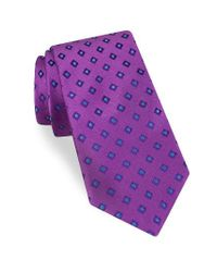 Ted Baker | Purple Open Grounded Geometric Silk Tie for Men | Lyst