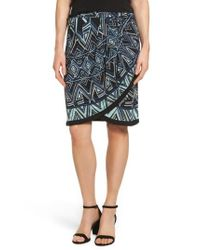 NIC+ZOE | Multicolor Beaming Faux Wrap Skirt | Lyst