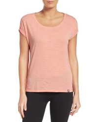 The North Face | Pink Dolman Sleeve Tee | Lyst