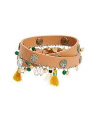 Tory Burch | Metallic Tassel Drop Bracelet | Lyst