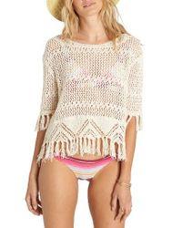 Billabong | White Wild One Open Stitch Sweater | Lyst