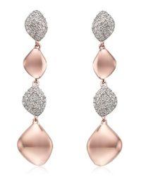 Monica Vinader | Metallic Nura Vermeil Diamond Drop Earrings | Lyst