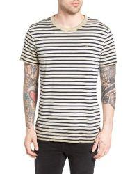 G-Star RAW | Blue Rancis Stripe T-shirt for Men | Lyst