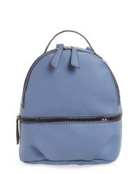 T-Shirt & Jeans | Blue Textured Faux Leather Mini Backpack | Lyst