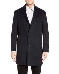 Cardinal Of Canada   Blue St. Paul Wool & Cashmere Topcoat for Men   Lyst