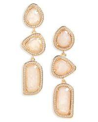 Melanie Auld   Metallic Linear Earrings   Lyst