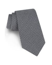 Ted Baker | Black Sulton Geometric Silk Tie for Men | Lyst
