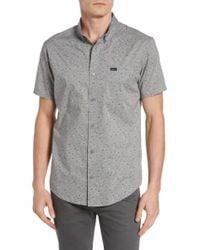 RVCA | Gray Galaxy Spatter-print Woven Shirt for Men | Lyst