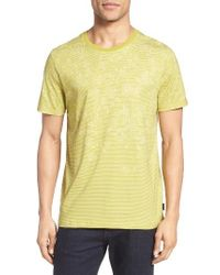 Ted Baker   Yellow Kayjay Modern Slim Fit Print T-shirt for Men   Lyst
