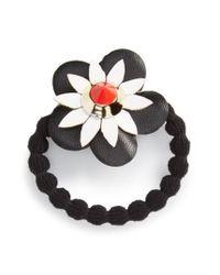 Cara | Black Flower Ponytail Holder | Lyst
