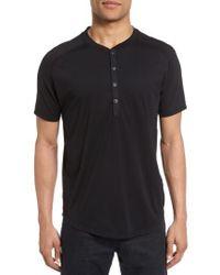 Good Man Brand | Black Short Sleeve Henley for Men | Lyst