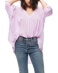 Free People | Purple Catch Me If You Can Tee | Lyst