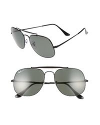 Ray-Ban | Black The General 57mm Polarized Sunglasses for Men | Lyst